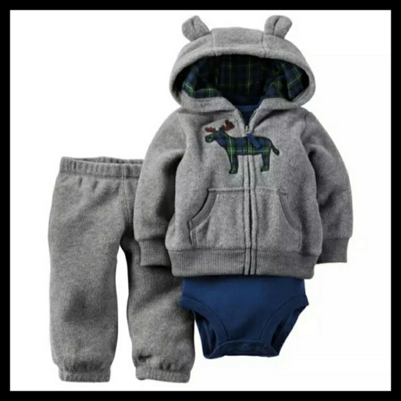 Carter's 6M Blue Moose 3-Piece Jacket & Pants Set